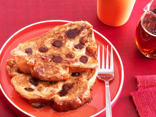 Valentine's Day Chocolate Chip French Toast