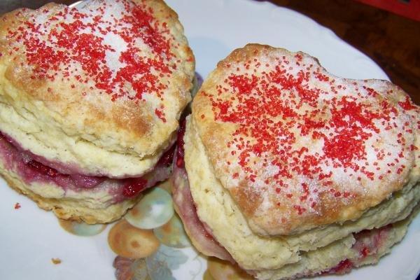 Valentine's Day Raspberry Scones