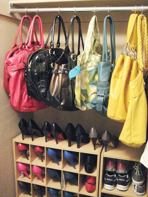 Shower Hook Handbag Storage