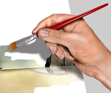 artist hand watercolor