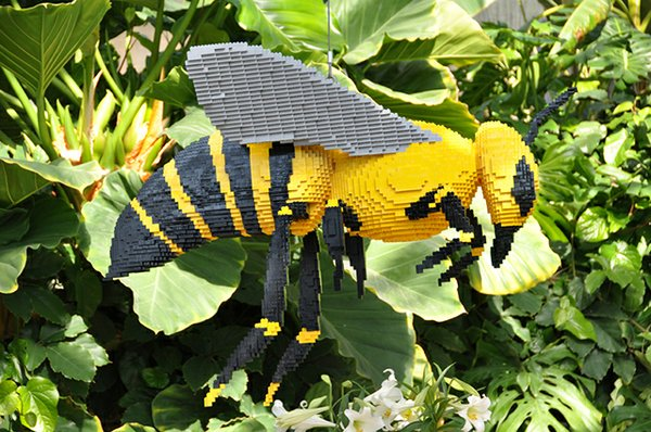 Bumblebee Lego from Naples Botanical Gardens