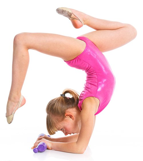 gymnast in pink