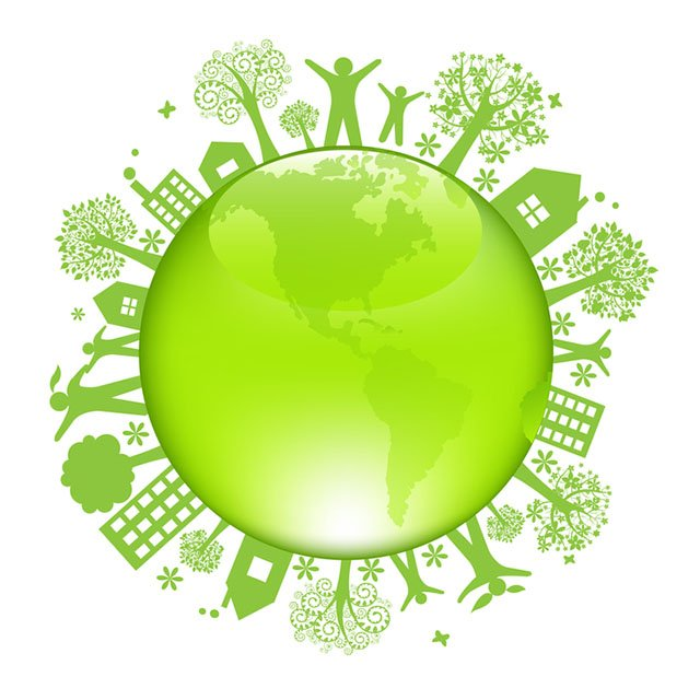 Earth Day illustration green globe