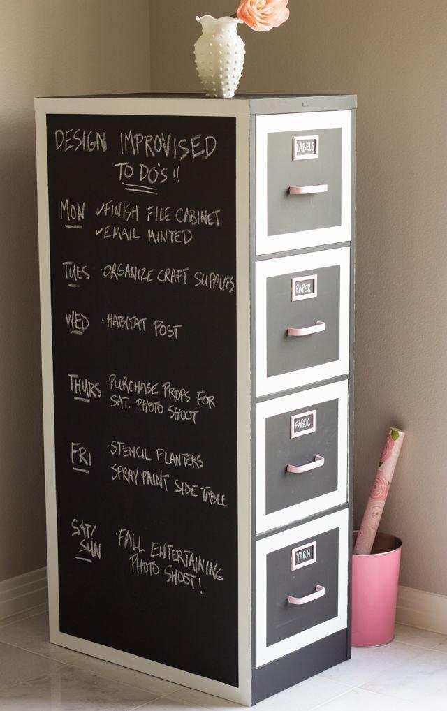 Chalkboard Filing Cabinet