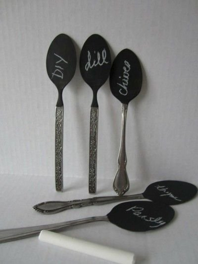 Chalkboard Garden Spoons
