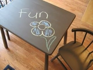 Chalkboard Table for Kids
