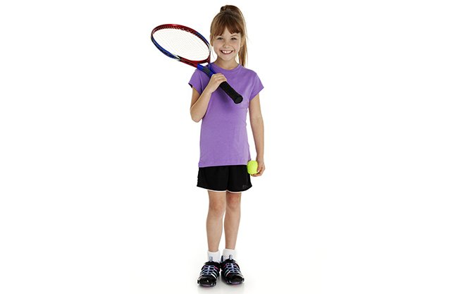 tennis playing girl