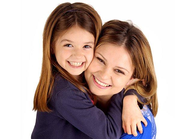 mother daughter hugging