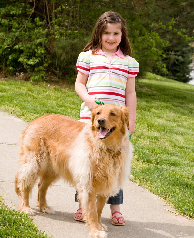 girl walking golden