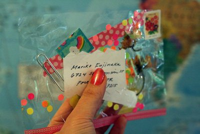 Packing tape postcard